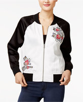 Amy Byer Juniors' Embroidered Bomber Jacket