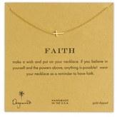 Dogeared Women's 'Reminder - Faith' Sideways Cross Pendant Necklace