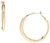 Carole Goldtone Thick Hoop Earrings