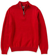 Class Club Big Boys 8-20 1/4 Zip Mock Neck Sweater