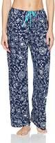 Hue Women's Fashion Print Comfort Fit Long Pajama Pant with Drawstring