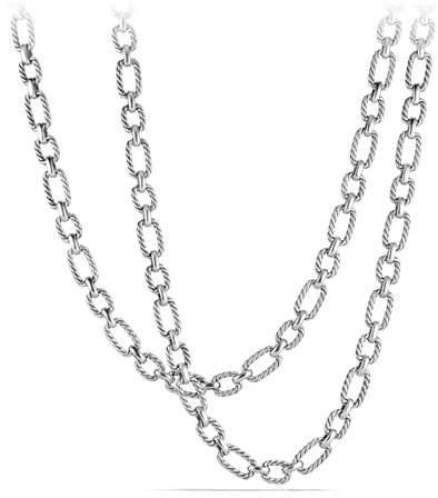 """David Yurman 9.5mm Cushion Link Chain Necklace, 36"""""""