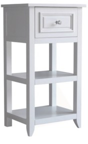 Elegant Home Fashions Dawson Floor Cabinet With One Drawer and Shelves