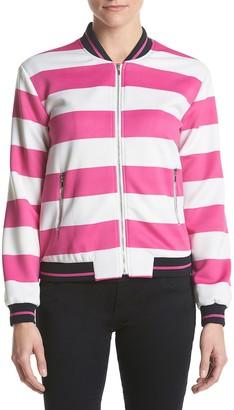 XOXO Women's Front Zip Bomber Jacket