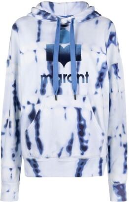 Etoile Isabel Marant Tie-Dye Logo Printed Hoodie