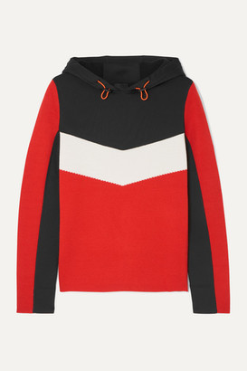 Bogner Fire & Ice BOGNER BOGNER FIREICE - Mariah Color-block Wool-blend And Scuba Hoodie - Red