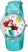 Disney Kids' W001700 Ariel Watch with Printed Nylon Band