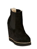 Paloma Barceló 140mm Suede Boot Wedges