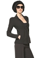 Giorgio Armani Wool & Cotton Double Jersey Jacket