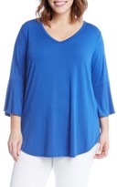 Karen Kane Plus Size Women's Bell Sleeve V-Neck Tee