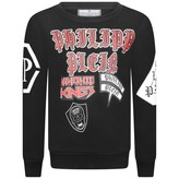Philipp Plein Philipp PleinBoys Black Hometown Kings Print Sweater
