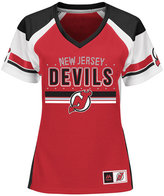Majestic Women's New Jersey Devils Ready to Win Shimmer Jersey