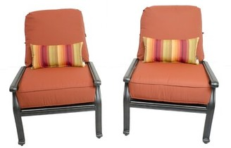 Canora Grey Penrith Patio Chair with Sunbrella Cushions (Set of 2 Cushion Color: Terracotta