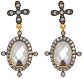 Freida Rothman 14K Gold Plated Sterling Silver Core Collection Mirror Drop Earrings