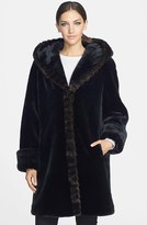 Gallery Women's Hooded Faux Fur Walking Coat