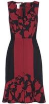 Oscar de la Renta Printed Wool-blend Dress
