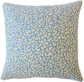 The Pillow Collection Verena Coastal Down Filled Throw Pillow in Seaside