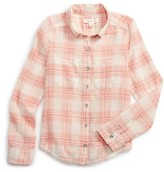 Treasure & Bond Girl's Plaid Shirt
