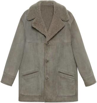 Gucci Curly shearling coat