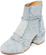 Maison Margiela Patchwork Denim Booties