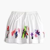 J.Crew Girls' pull-on skirt in embroidered bird garden