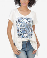 Lucky Brand Side-Slit Graphic Top