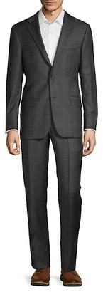 Hickey Freeman Milburn IIM Series T Regular-Fit Wool Check Suit