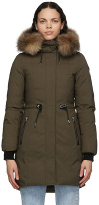 Mackage SSENSE Exclusive Khaki Down Anabel Coat