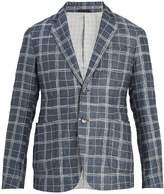 Giorgio Armani Single-breasted checked linen-blend blazer
