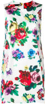 Love Moschino pixilated floral shift dress