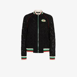 Gucci Lace Bomber Jacket