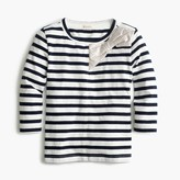 J.Crew Girls' metallic bow striped T-shirt