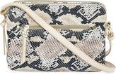 Asstd National Brand Faux Snake Zip Crossbody Bag