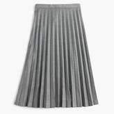 J.Crew Pleated midi skirt in wool