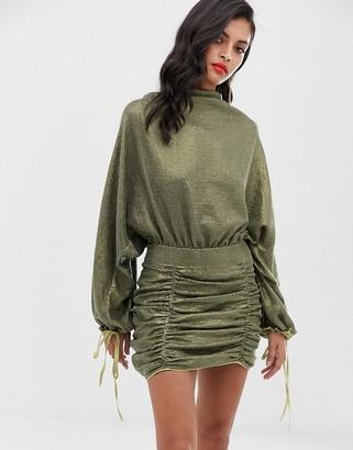 ASOS DESIGN oversized mini dress in all over sequin