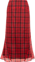 Joseph Ethan plaid silk-organza midi skirt