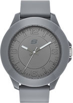 Skechers Mens Gray Silicone Analog Watch