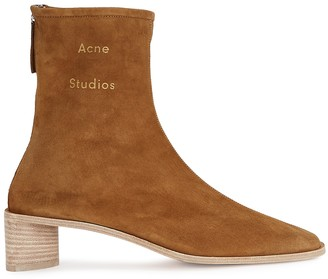 Acne Studios 45 Brown Suede Ankle Boots