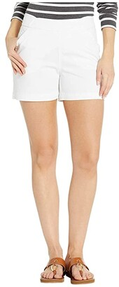 Jag Jeans 5 Gracie Pull-On Shorts in Twill (Black) Women's Shorts