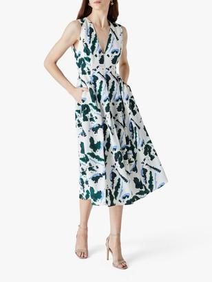 Finery Henslowe Sleeveless Printed Dress, White/Multi