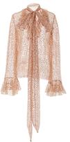 Rodarte Sequin Embellished Long Sleeve Top