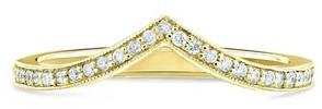 Annello by Kobelli 14K Gold 1/6ct TDW V-Shaped Diamond Chevron Wedding Band