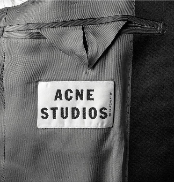 Acne Black Drifter Mohair-Blend Tuxedo Jacket