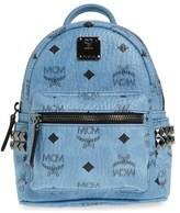 MCM 'X Mini Stark Side Stud' Convertible Backpack - Blue