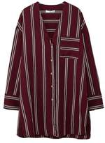 MANGO Oversize striped blouse