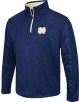 Men's Stadium Notre Dame Fighting Irish College Embossed Sleet Quarter-Zip Pullover