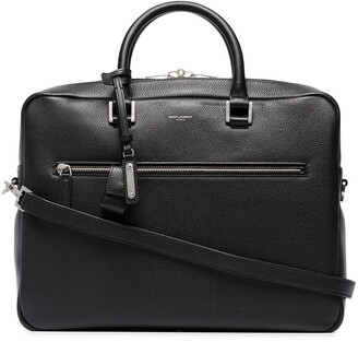 Saint Laurent logo-print briefcase