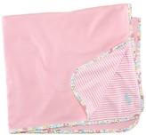Ralph Lauren Infant Girls' Interlock Stripe Blanket