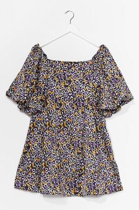 Nasty Gal Womens Puff Luck Abstract Mini Dress - Purple