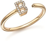 Dana Rebecca Designs Diamond Initial Ring in 14K Yellow Gold